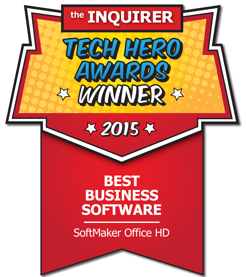 SoftMaker Office HD se voit décerner une récompense par The INQUIRER