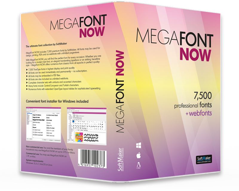 MegaFont NOW: box