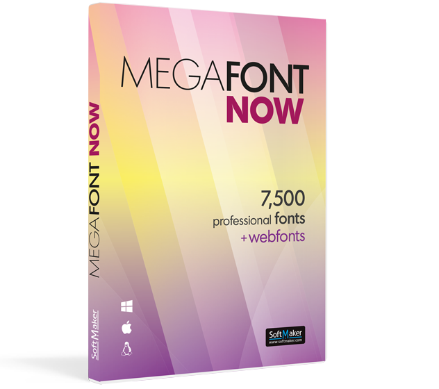 MegaFont NOW: 7500 fuentes profesionales