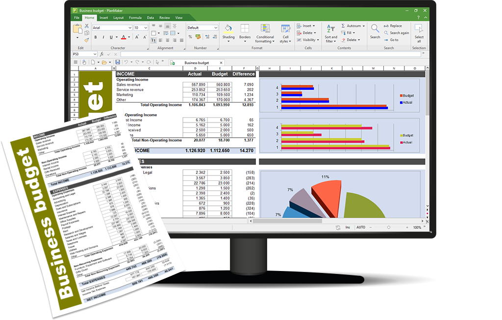 PlanMaker 2021, the fast, powerful and compatible spreadsheet program